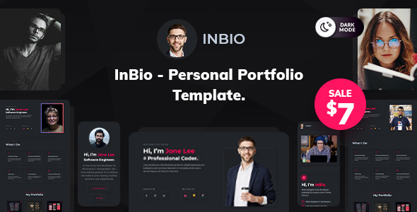 [Free Download] InBio – One Page Personal Portfolio Template (Nulled) [Latest Version]