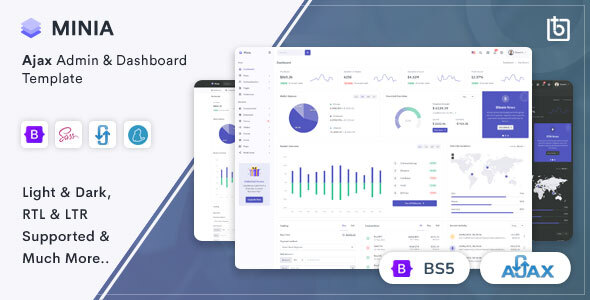 [Free Download] Minia – Ajax Admin & Dashboard Template (Nulled) [Latest Version]