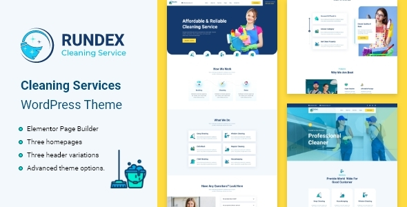 [Free Download] Rundex – Cleaning Services WordPress Theme (Nulled) [Latest Version]