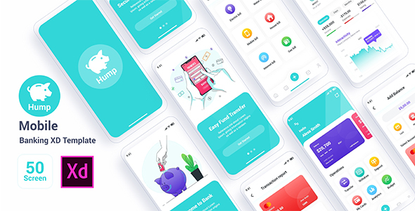 [Free Download] Hump – Mobile Banking Adobe XD Template (Nulled) [Latest Version]