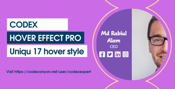 [Free Download] Codex Hover Effect Pro (Nulled) [Latest Version]