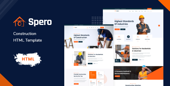[Free Download] Spero – Construction HTML Template (Nulled) [Latest Version]