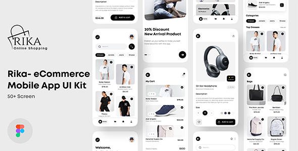 [Free Download] Rika – eCommerce Mobile App UI Kit For Figma (Nulled) [Latest Version]