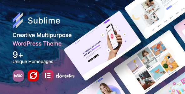 [Free Download] Sublime | Creative Multipurpose WordPress Theme (Nulled) [Latest Version]