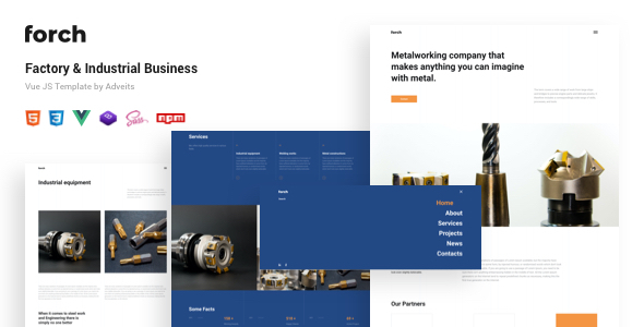[Free Download] Forch – Factory & Industrial Business Vue JS Template (Nulled) [Latest Version]
