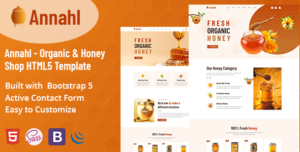 [Free Download] Annahl – Organic & Honey Shop HTML5 Template (Nulled) [Latest Version]