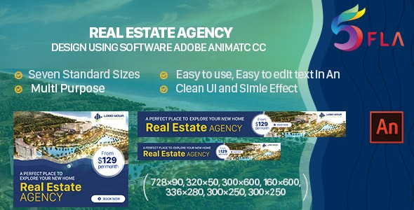 [Free Download] Real Estate Agency Html5 Banner Ad – Animate CC (Nulled) [Latest Version]