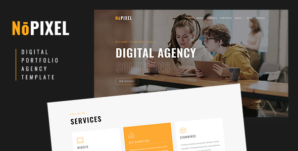 [Free Download] NoPixel – Digital Portfolio and Agency HTML Template (Nulled) [Latest Version]