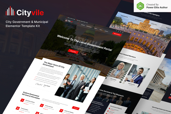 [Free Download] Cityvile – City Government & Municipal Elementor Template Kit (Nulled) [Latest Version]