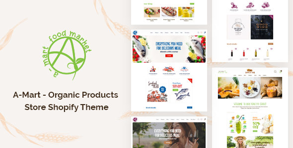 [Free Download] A-Mart – Organic Products Store Shopify Theme (Nulled) [Latest Version]