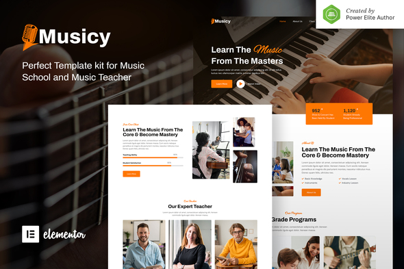 [Free Download] Musicy – Music School Elementor Template Kit (Nulled) [Latest Version]