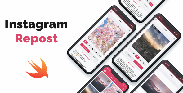 [Free Download] Instagram Repost – iOS App. Repost photos & videos from Instagram (Nulled) [Latest Version]