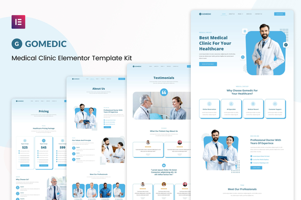 [Free Download] Gomedic – Medical Elementor Template Kit (Nulled) [Latest Version]