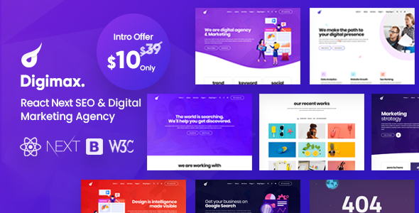 [Free Download] Digimax – React Next SEO & Digital Marketing Agency Template (Nulled) [Latest Version]