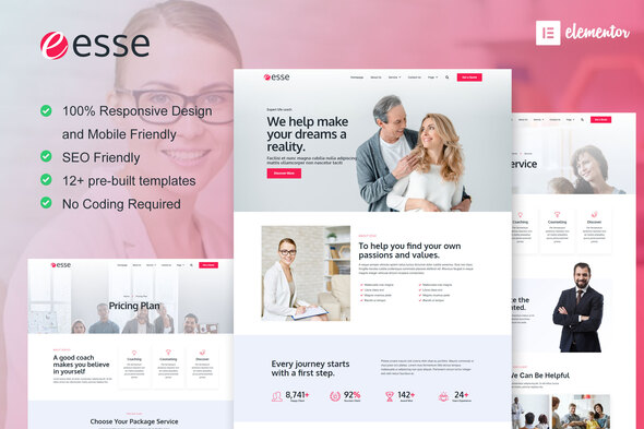 [Free Download] Esse – Life Coach & Consulting Elementor Template Kit (Nulled) [Latest Version]