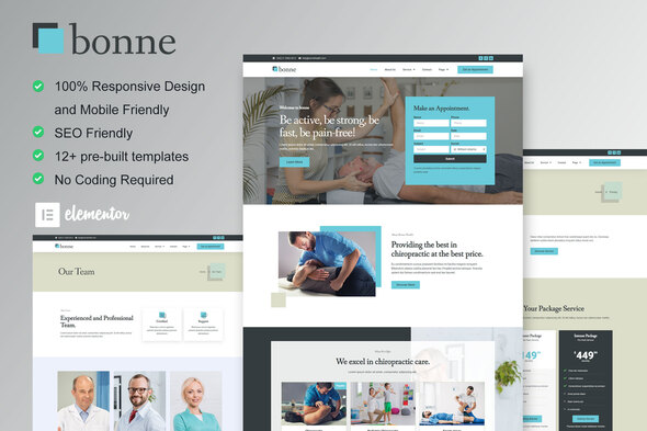 [Free Download] Bonne – Chiropractic & Physiotherapy Elementor Template Kit (Nulled) [Latest Version]