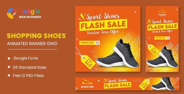 [Free Download] Shoes HTML5 Banner Ads GWD (Nulled) [Latest Version]