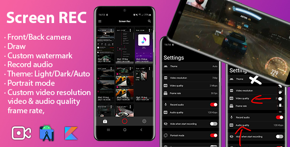 [Free Download] Screen recorder | Camera – Audio – Draw – Watermark (Nulled) [Latest Version]