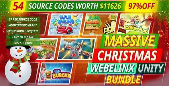 [Free Download] Massive Webelinx Christmas Unity Bundle 54 Premium Quality Games (Nulled) [Latest Version]