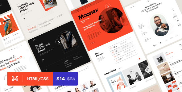 [Free Download] Moonex  – Portfolio & Agency HTML Template (Nulled) [Latest Version]