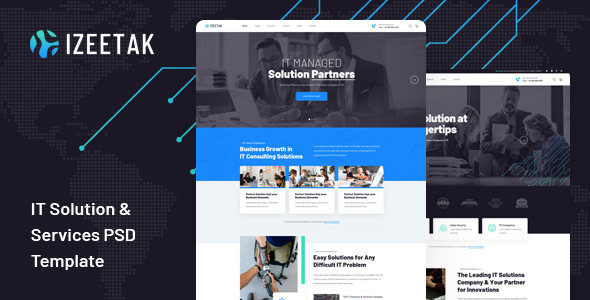 [Free Download] Izeetak – IT Solutions & Services PSD Template (Nulled) [Latest Version]