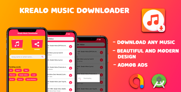[Free Download] Krealo Music Downloader 2021 – Android Source Code (Nulled) [Latest Version]