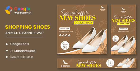 [Free Download] Women's Shoes HTML5 Banner Ads GWD (Nulled) [Latest Version]