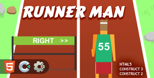 [Free Download] Runner Man HTML5 Construct 2/3 Game (Nulled) [Latest Version]