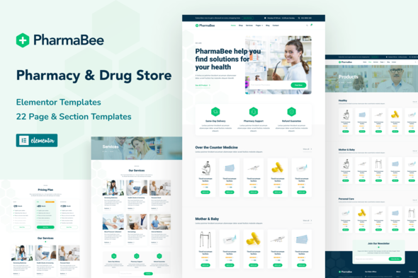 [Free Download] PharmaBee – Pharmacy & Drug Store Website Elementor Template Kit (Nulled) [Latest Version]