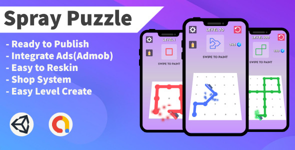 [Free Download] Spray Puzzle (Unity+Android+Puzzle+Admob) (Nulled) [Latest Version]