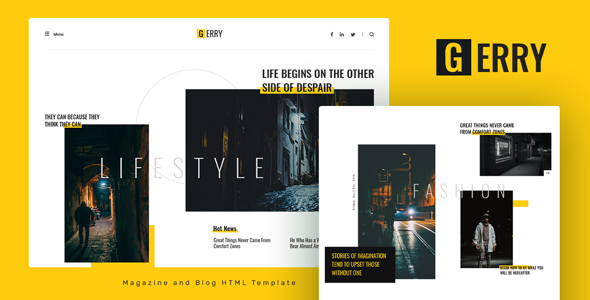 [Free Download] Gerry – Blog and Magazine HTML Template (Nulled) [Latest Version]