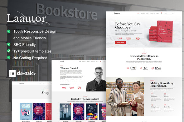 [Free Download] LaAutor – Author & Publisher Elementor Template Kit (Nulled) [Latest Version]