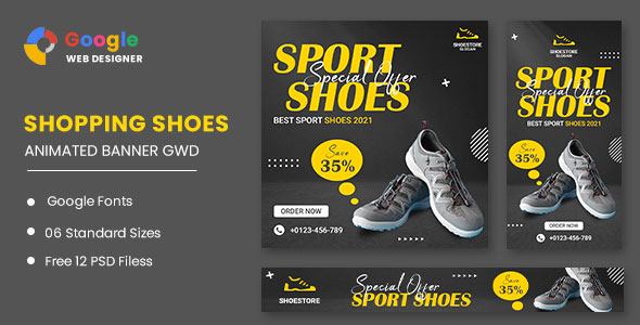 [Free Download] Sport Shoes HTML5 Banner Ads GWD (Nulled) [Latest Version]