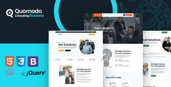 [Free Download] Quomodo – Consulting Business Template (Nulled) [Latest Version]