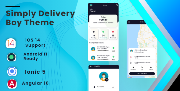 [Free Download] Simply Deliver Boy Mobile App Template | Android App + iOS App Template | Angular 10 | Ionic 5 (Nulled) [Latest Version]
