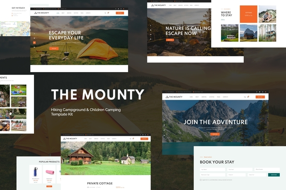 [Free Download] Mounty | Hiking Campground & Children Camping Template Kit (Nulled) [Latest Version]