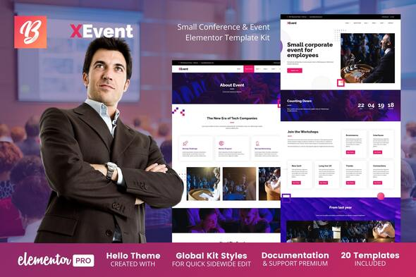 [Free Download] XEvent – Small Conference & Event Elementor Template Kit (Nulled) [Latest Version]