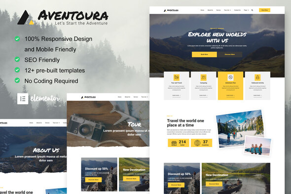 [Free Download] Aventoura – Travel & Tour Agency Elementor Template Kit (Nulled) [Latest Version]