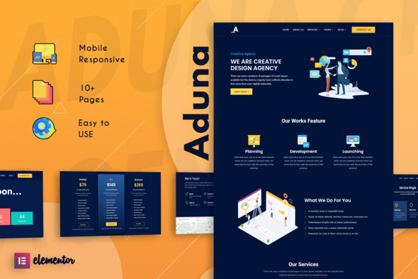[Free Download] Aduna – Creative Agency Elementor Template Kit (Nulled) [Latest Version]