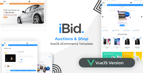 [Free Download] iBid – VueJS eCommerce & Auctions Template (Nulled) [Latest Version]