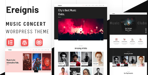 [Free Download] Ereignis – Music Concert WordPress Theme (Nulled) [Latest Version]