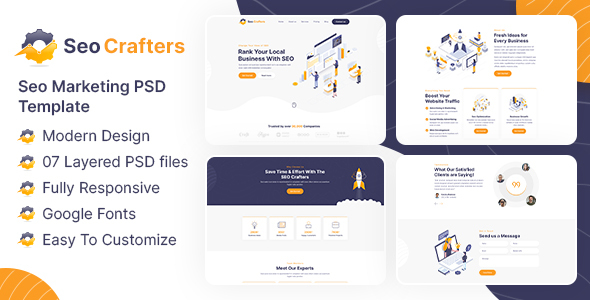 [Free Download] SEO Crafters Marketing PSD Template (Nulled) [Latest Version]