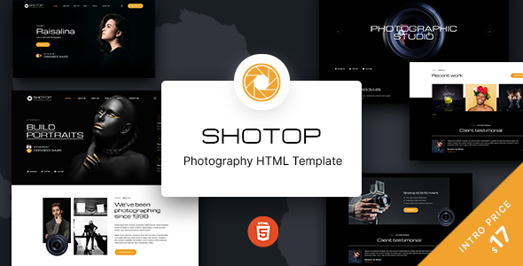 [Free Download] Shotop – Photography HTML Template (Nulled) [Latest Version]