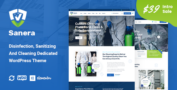 [Free Download] Sanera – Sanitizing And Cleaning Services WordPress Theme (Nulled) [Latest Version]