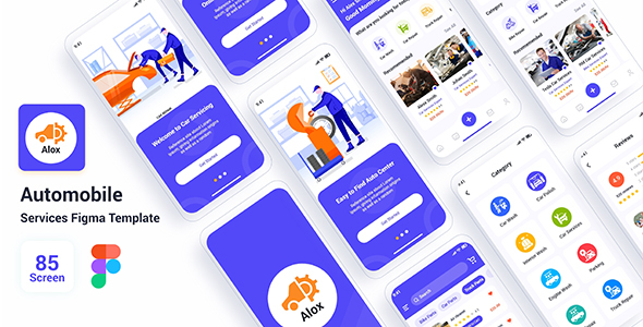 [Free Download] Alox – Automobile Services Figma Template (Nulled) [Latest Version]