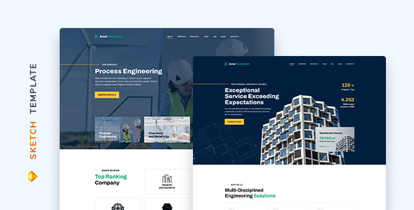 [Free Download] Axial – Construction Company Template for Sketch (Nulled) [Latest Version]