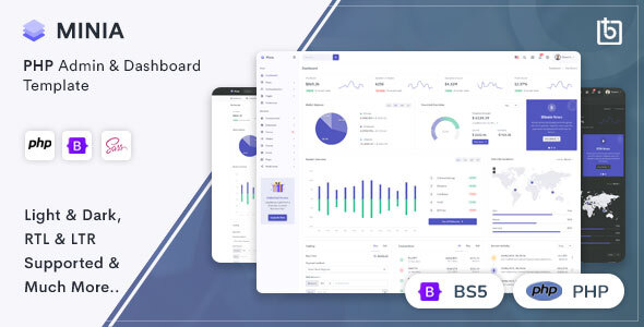 [Free Download] Minia – PHP Admin & Dashboard Template (Nulled) [Latest Version]