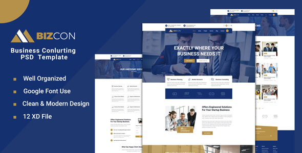 [Free Download] Bizcon – Business Consulting XD Template (Nulled) [Latest Version]