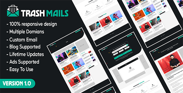 [Free Download] Trash Mails – Temporary Email Address System (Nulled) [Latest Version]