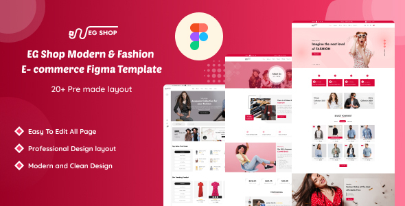 [Free Download] EG Shop – Modern & Fashion E- Commerce Figma Template (Nulled) [Latest Version]